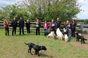 Dogs Off Lead Area Officially Opened