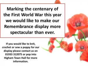 Poppies for Remembrance Display 2018