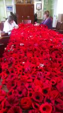 Remembrance display nearly ready thanks to amazing community participation.