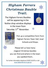 Higham Ferrers Christmas Bauble Trail.