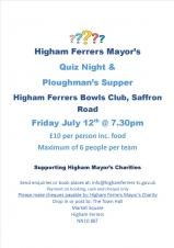 Mayor's Quiz Night and Ploughman's Supper