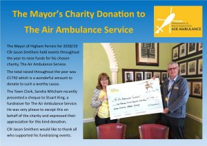 Donation to The Air Ambulance Service