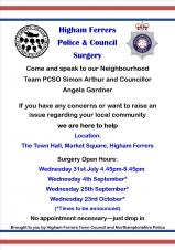 PCSO and Town Council Surgery