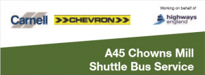 Chowns Mill Shuttle Bus - Face Coverings Required from 15th June